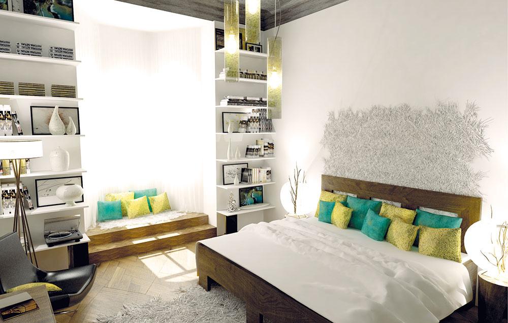 Éterická spálňa pre mladý pár