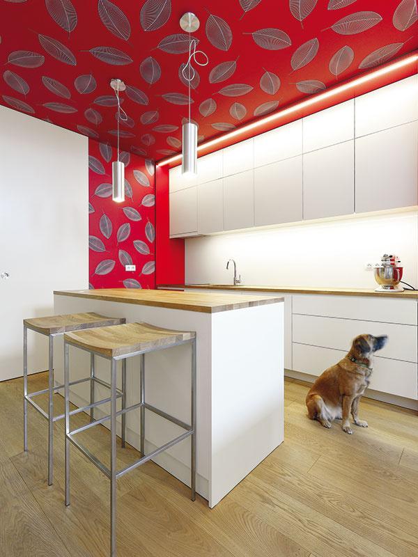 """Kuchyňa má čistý, minimalistický dizajn – všetko potrebné ukrývajú skrinky bez úchytiek, smechanizmom """"push to open"""". """"Obaja máme radi poriadok, čo smalým dieťaťom nebýva vždy jednoduché. Toto riešenie nám absolútne vyhovuje,"""" hovorí praktický otec."""