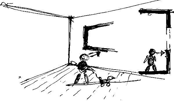 """Mgr. art. Juraj Tesák:  """"Niektoré okná, najmä tie vnovostavbách, ma udivujú. Parapety sú položené tak vysoko, že detská izba vyzerá skôr ako komora. Podľa Vitruvia to Sokrates vyjadril veľmi múdro arozumne: ,Ľudská hruď by mala mať okná abyť otvorená, aby sa do nej dalo pozerať.' My sme sa rozhodli vnašom dome okná položiť oniečo nižšie, ato tak, aby sme cez ne videli aj vtedy, keď sedíme na zemi."""""""