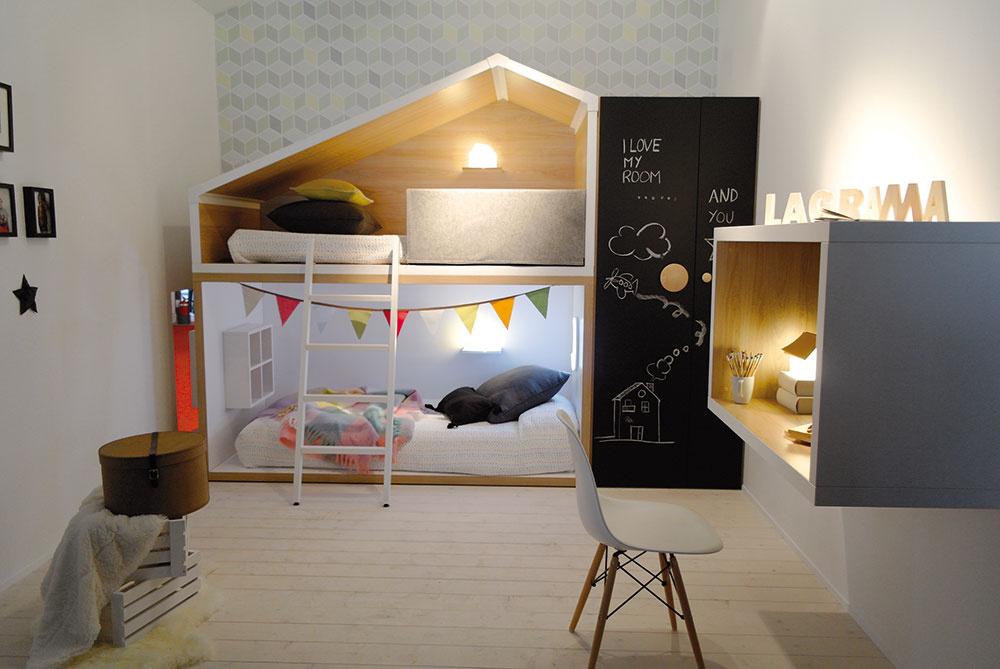 Dizajn detských izieb nie je cudzí ani dizajnovým výstavám. Značka Lagrama na tohtoročnom Design Weeku vMiláne prostredníctvom inštalácie zmenšenín domčekov vytvorila malé detské mesto. Za povšimnutie stojí, akú dôležitú úlohu má vtakýchto blokoch práve vnútorné osvetlenie.