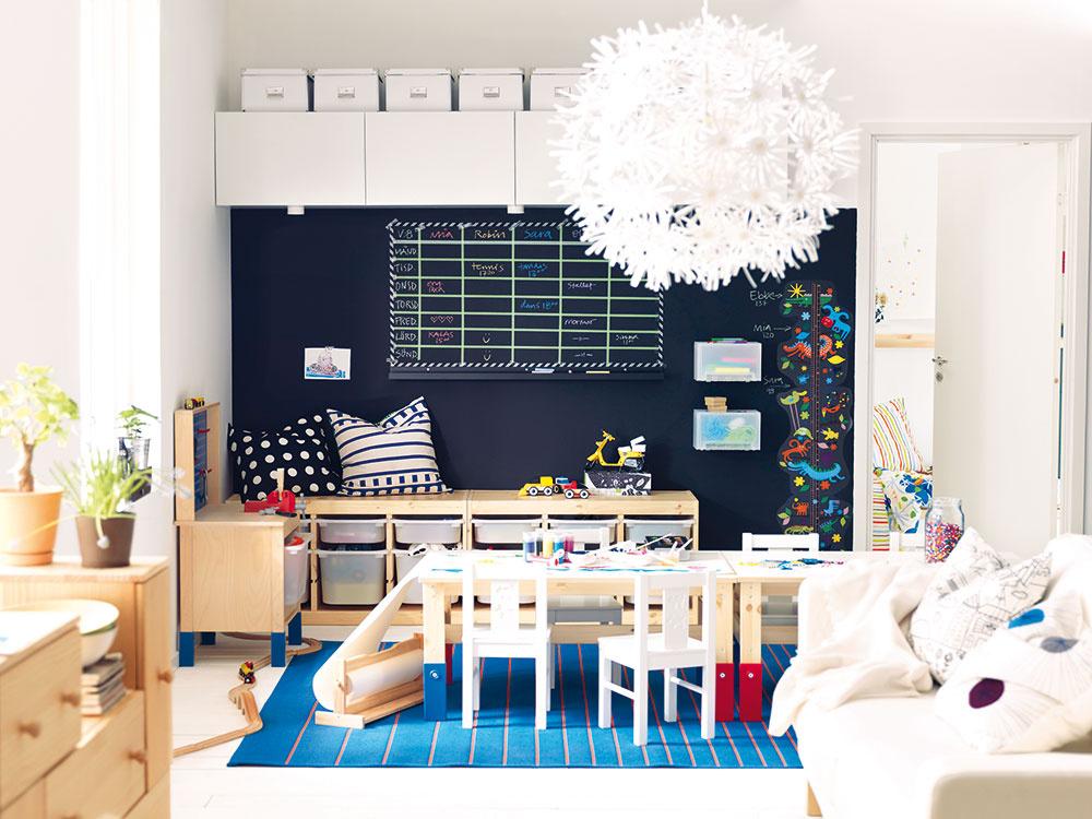 Detský stolík SANSAD s výškou nastaviteľnou do troch polôh, 100 × 60 × 48 – 60 cm, 39,99 €, IKEA