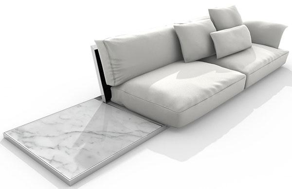 Sedačka Driade Lisiere od dizajnéra Carla Colomba, novinka pre Design Week, dostupná do konca roka 2014, Konsepti