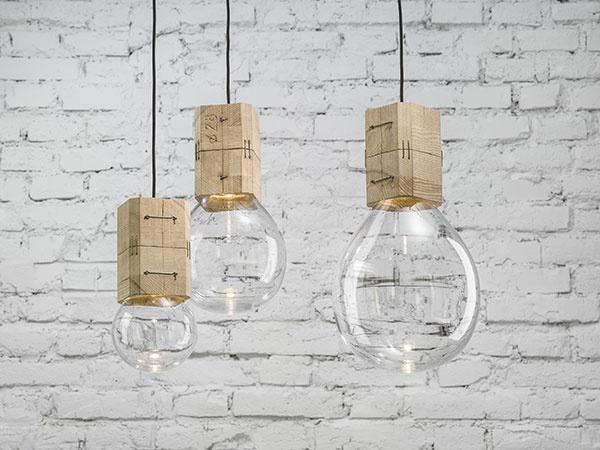 Závesné svietidlo Moulds, kombinácia bukového dreva ačeského krištáľu, cena na vyžiadanie, Lasvit