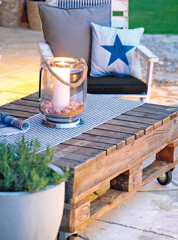 Vintage a eko v jednom - urobte si stolík z paliet