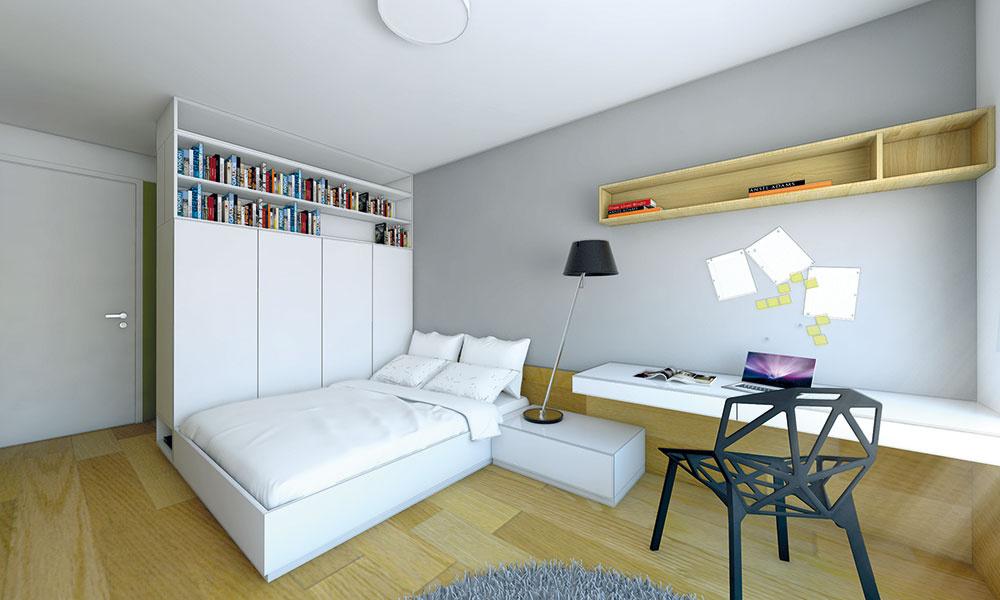 Návrh interiéru študentskej izby pre tínedžerku