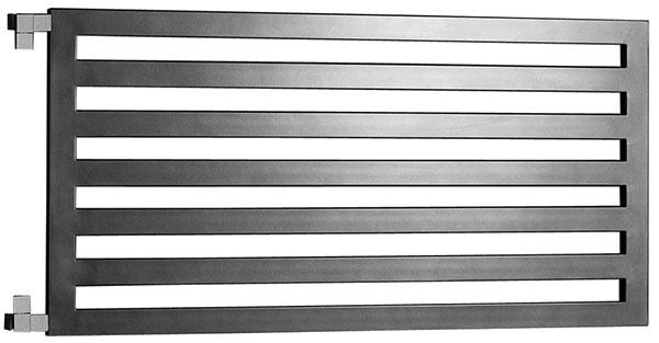 Radiátor Darius, povrchová úprava – antracit, 600 × 1 200 mm, rohový ventil CUBE, elektrické vykurovanie, kombinované vykurovanie, od 377 €