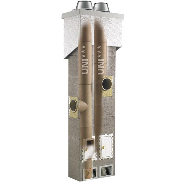 KERAMICKÝ KOMÍN  Orientačná cena: od 490 € bez DPH Cena montáže: od 20 €/bm Keramický komín sa skladá zo šamotovej rúry, ztepelnej izolácie atvárnice. Šamot má výborné tepelné vlastnosti aje mimoriadne vhodný zhľadiska životnosti. Práve ztohto dôvodu sa šamotové komíny projektujú do väčšiny novostavieb. Každý komín so šamotovou vložkou by mal disponovať aj tepelnou izoláciou, ktorá túto vložku obaľuje. Jednotlivé komínové systémy od viacerých výrobcov sa môžu vdruhu izolácie líšiť.