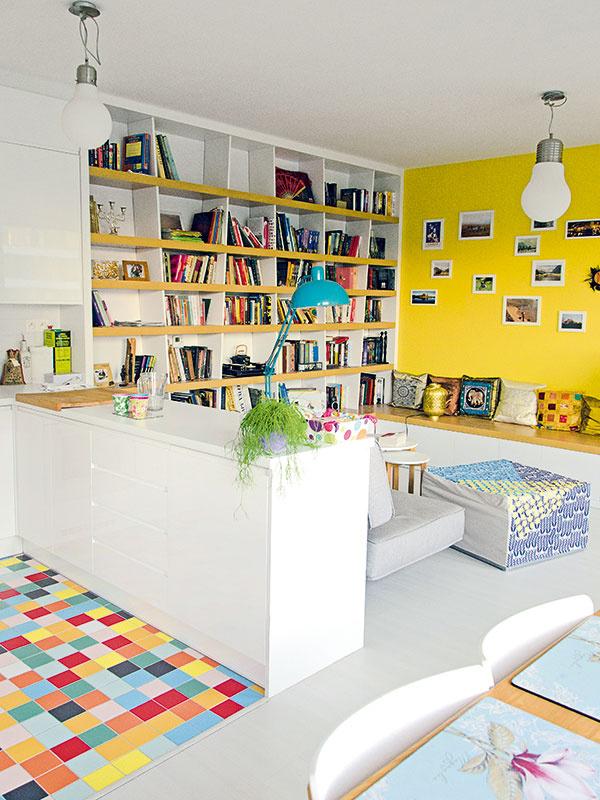 Veselý interiér plný farieb s malým rozpočtom
