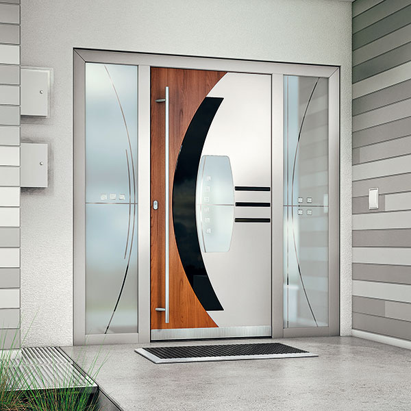 Vstupné dvere môžu byť ozajstným šperkom na fasáde domu. Príkladom sú hliníkové dvere Destiny od spoločnosti Perito, ktoré navrhol popredný český dizajnér Petr Novague. Výsledkom je spojenie súčasného dizajnu so špičkovými technickými parametrami.