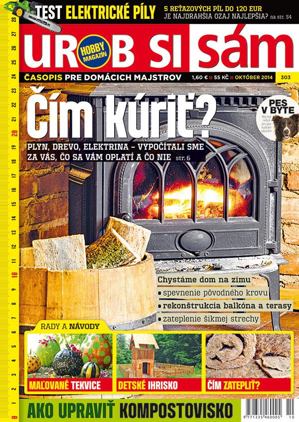 Októbrové vydanie  časopisu Urob si sám v predaji – ČÍM KÚRIŤ?