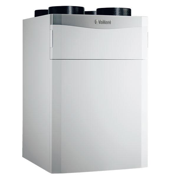 Centrálna jednotka srekuperáciou tepla recoVAIR od Vaillantu pozostáva zventilačnej jednotky adiaľkového ovládania smožnosťou pripojenia externého regulátora calorMATIC 470, tri výkonové úrovne – sprúdením vzduchu sobjemom do 150 m3/h, 260 m3/h a360 m3/h, využitie 95 % tepla zodpadového vzduchu pri teplotách až do –7 °C, predhriatie čerstvého vzduchu pred vstupom do priestoru, filter proti peľu prachu sjemnými pórmi, www.vaillant.sk