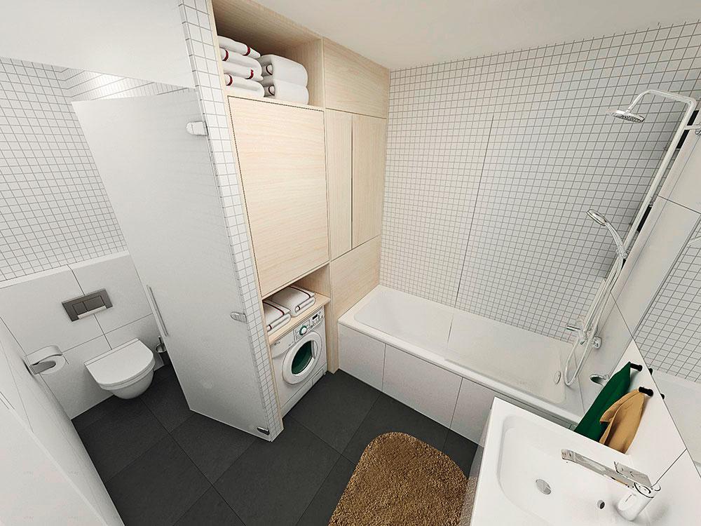 Toaleta je oddelená priesvitnými, no nie priehľadnými dverami zmliečneho tzv. matovaného skla. Minimalizujú pachy azbytočné pohľady dovnútra.