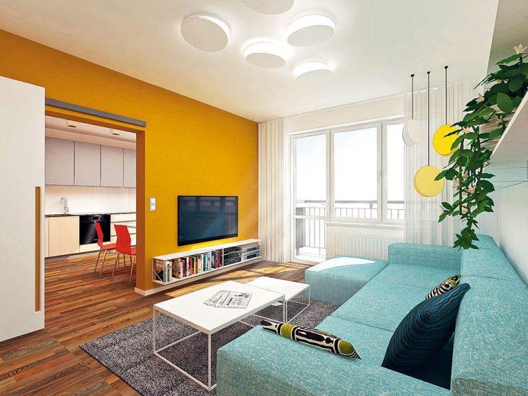 Starší panelákový byt potreboval po kúpe kreatívny návrh rekonštrukcie