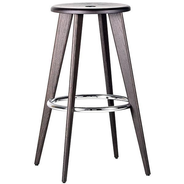 Okrúhlu barovú stoličku zdubového dreva Tabouret Haut začali vrámci širšej reedície diela Jeana Prouvého vyrábať vo švajčiarskej Vitre. Od 629 €, VITRA, predáva KONSEPTI