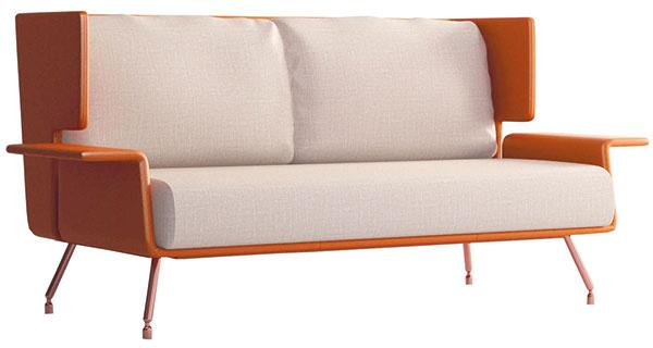 Sedačka A& A, dizajn Christophe Poggioli (Architecture & Associés) pre Knoll, 76,5 × 176,4 × 83 cm, 9 831,20 €, www.nest.co.uk