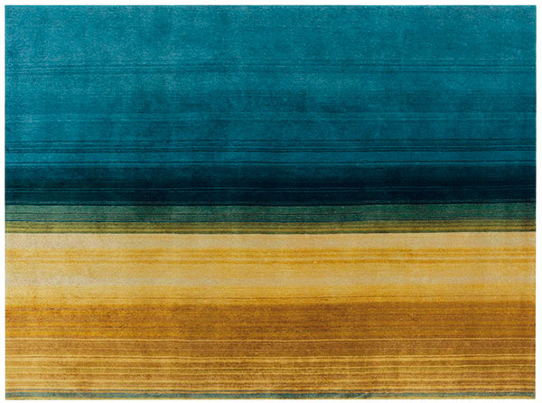 Koberec Gan Paysages, dizajn Sebastien Cordoleani, novozélandská vlna, výška vlasu 15 mm, 170 × 240 cm, 1 740 €, Triform Factory