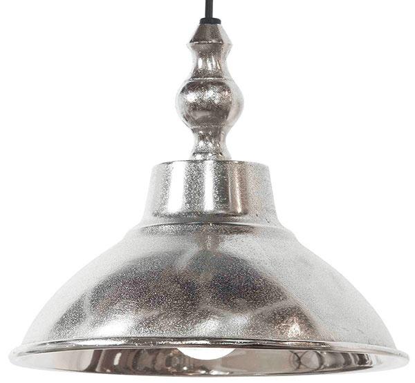 Závesné svietidlo zkovu spatinovou povrchovou úpravou, priemer 21,5 cm, výška 18 cm, 40 €, www.homeedition.sk