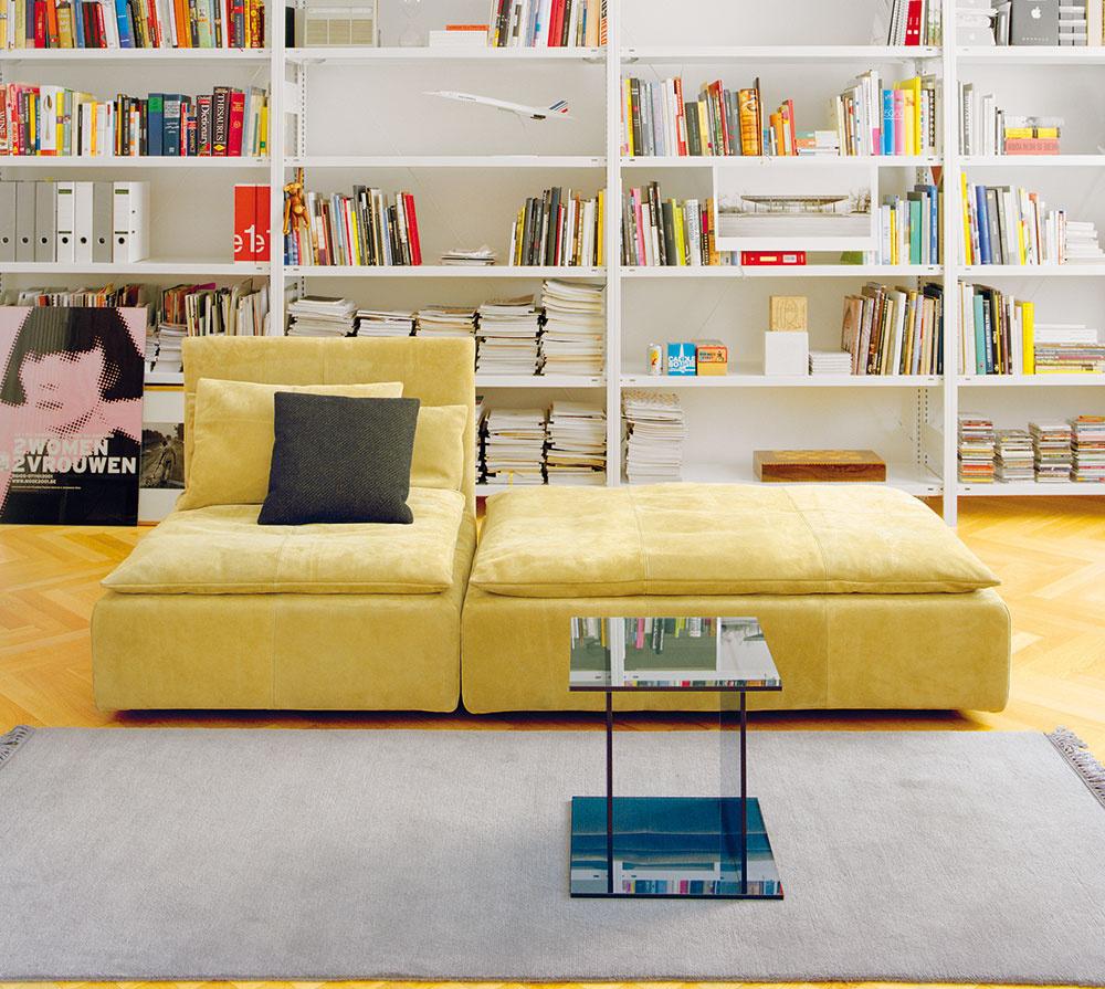 Hrdý knihomoľ. Knihy sú azda najestetickejším doplnkom, ktorý ani nemá možnosť pôsobiť nudne, gýčovo či strnulo. Začítaným dizajn praje, pretože otvorené knižnice plné kníh, platní ačasopisov oživia každú prázdnu stenu.