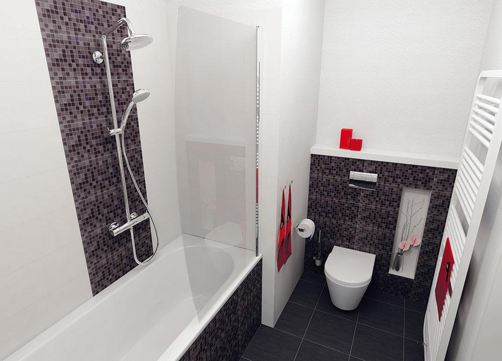 WC je vpravo odo dverí do kúpeľne, vpodstate na svojom pôvodnom mieste. Vedľa zabudovanej nádržky je vprímurovke vytvorená nika, ktorú možno využiť esteticky – na umiestnenie dekorácie –, ale aj prakticky (napríklad ako miesto na toaletný papier).