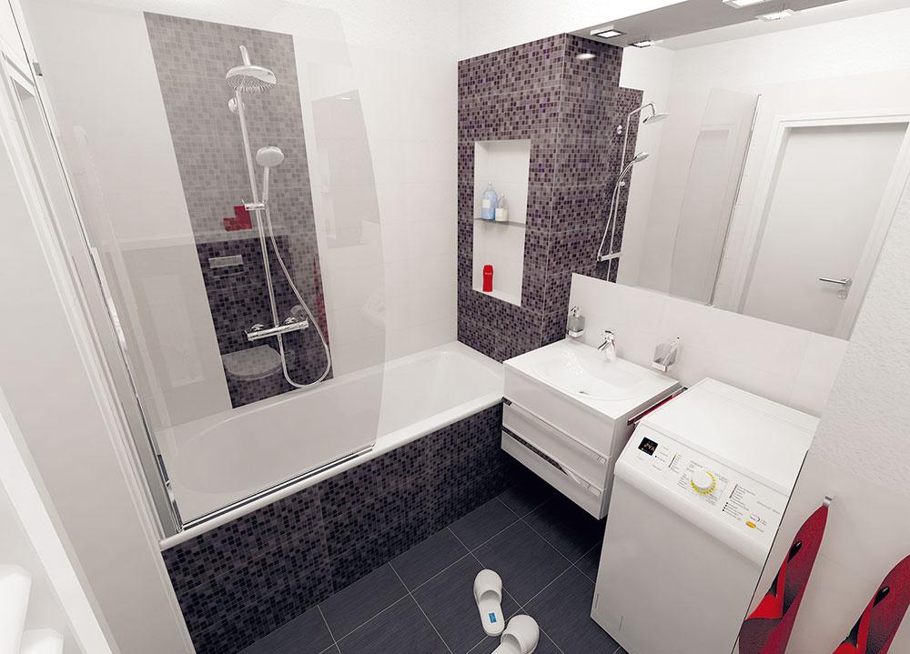 Tri návrhy na rekonštrukciu malej kúpeľne