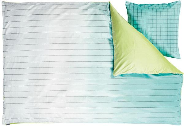 Obliečky Hay z kolekcie Minimal od dizajnérov Scholten & Baijings, dostupné vo viacerých farbách, 240 × 220 cm, s dvomi obliečkami na vankúše, 113,33 €, www.nest.co.uk