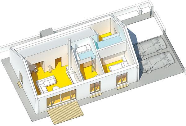 Iný prístup. Projekt Na dobrom mieste vlokalite Čierna Voda priniesol zaujímavú myšlienku – záujemcovia okúpu pozemku môžu mať kdispozícii architekta, ktorý im pomôže so špecifikáciou domu asvýberom vhodného pozemku. Architekt im potom dom aj navrhne na mieru avspolupráci srealizačnou firmou postaví, čo je pre investora výhodná kombinácia.