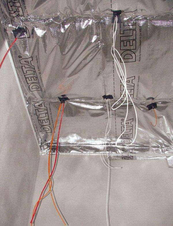 Parozábrana v konštrukcii strechy