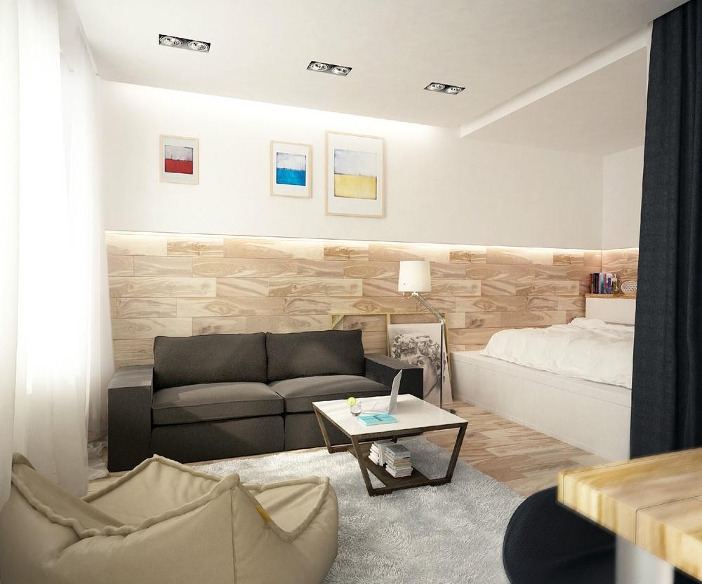 Malý byt s veľkým blokom uprostred