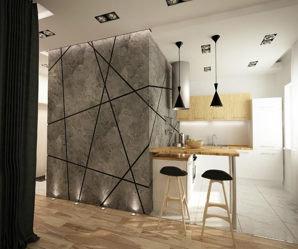 Odvážny návrh: Malý byt s veľkým blokom uprostred