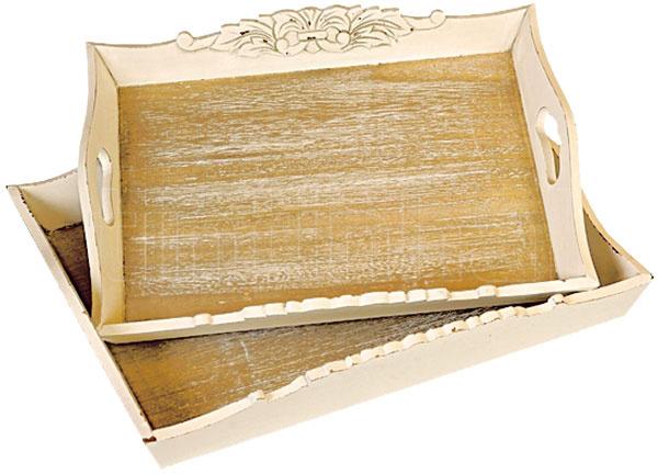 Drevený patinovaný Country Ssmaslovými bokmi, 41 × 31 cm, 19,90 €, www.tintinhal.sk