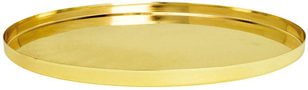 Okrúhly vzlatom alebo striebornom vyhotovení, priemer 30,5 cm, výška 1,5 cm, 12,99 €, H&M, Eurovea