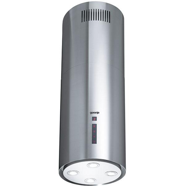 IDR 4545 E – ostrovčekový digestor s dotykovým elektronickým ovládaním, funkcia časovača, šírka 39 cm, cena 519 eur.