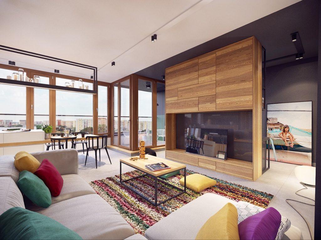 Farebný byt v modernom šate dokonale využíva svoj priestor