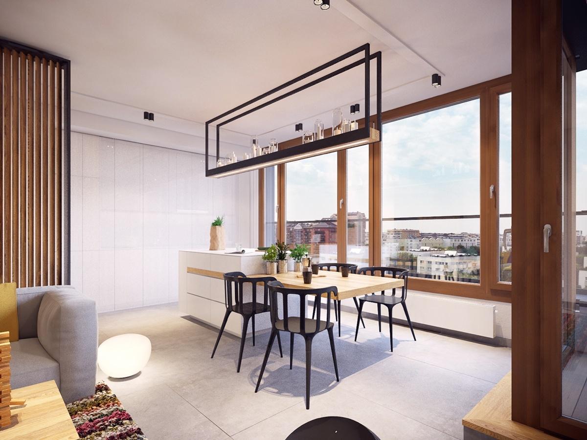 Moderný farebný byt, ktorý dokonale využíva svoj priestor