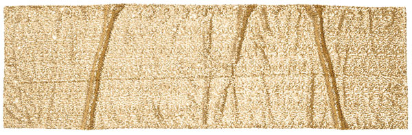 Obrus vyšívaný zlatými flitrami, 45 × 150 cm, 19,99 €, H&M Eurovea