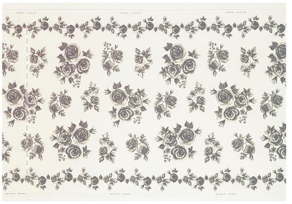 Látka Rosmarie, kvetinový klasický vzor, šírka 150 cm, IKEA