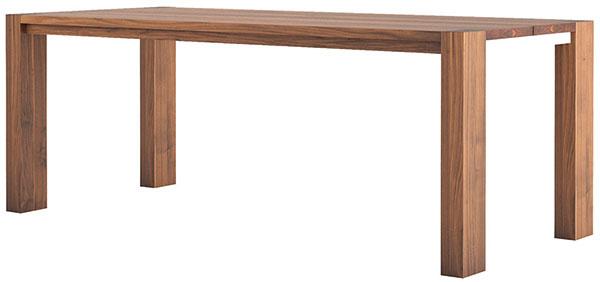 """Jedálenský stôl Solid je slovenským príspevkom k otázke nábytkárskych návratov poctivých stolárskych motívov. Jeho autorom je Leo Čellár zo spoločnosti Javorina. Názov tohto výrobného družstva zo Starej Turej je trochu zavádzajúci – ťažisko produkcie leží v nábytku z masívneho dubového (teda nie javorového) dreva. Aj Solid vyniká krásou prírodne upraveného (olejovaného) dreva """"neochvejných"""" dubov hospodárneho pôvodu. Od 700 €, JAVORINA"""