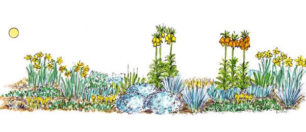 Kvetinový záhon ako namaľovaný