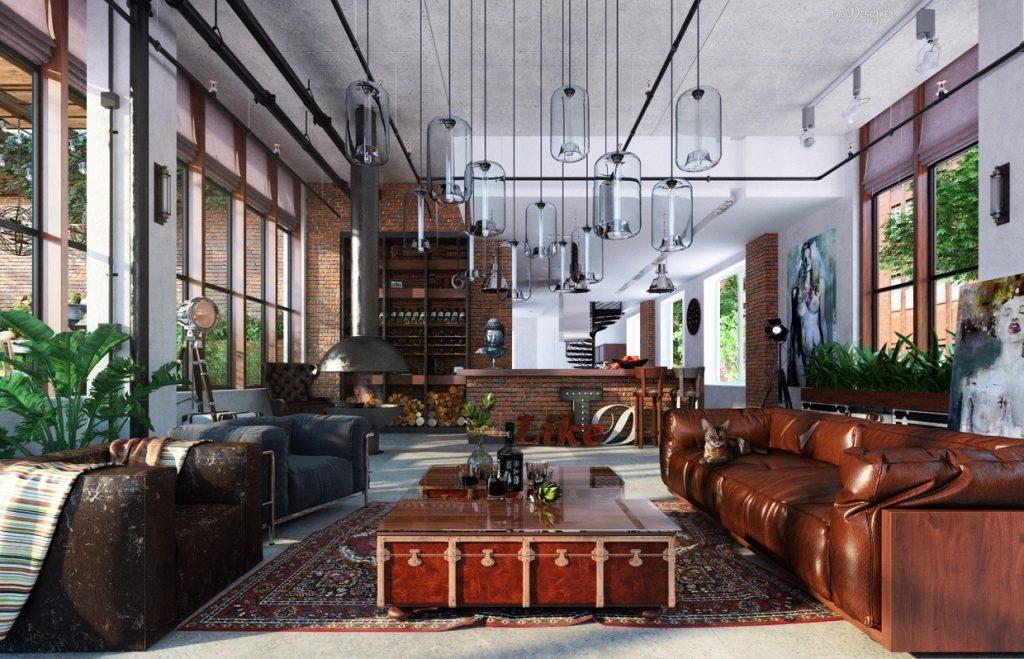 Industriál, luxus, umenie a ruské mrazy v jednom byte