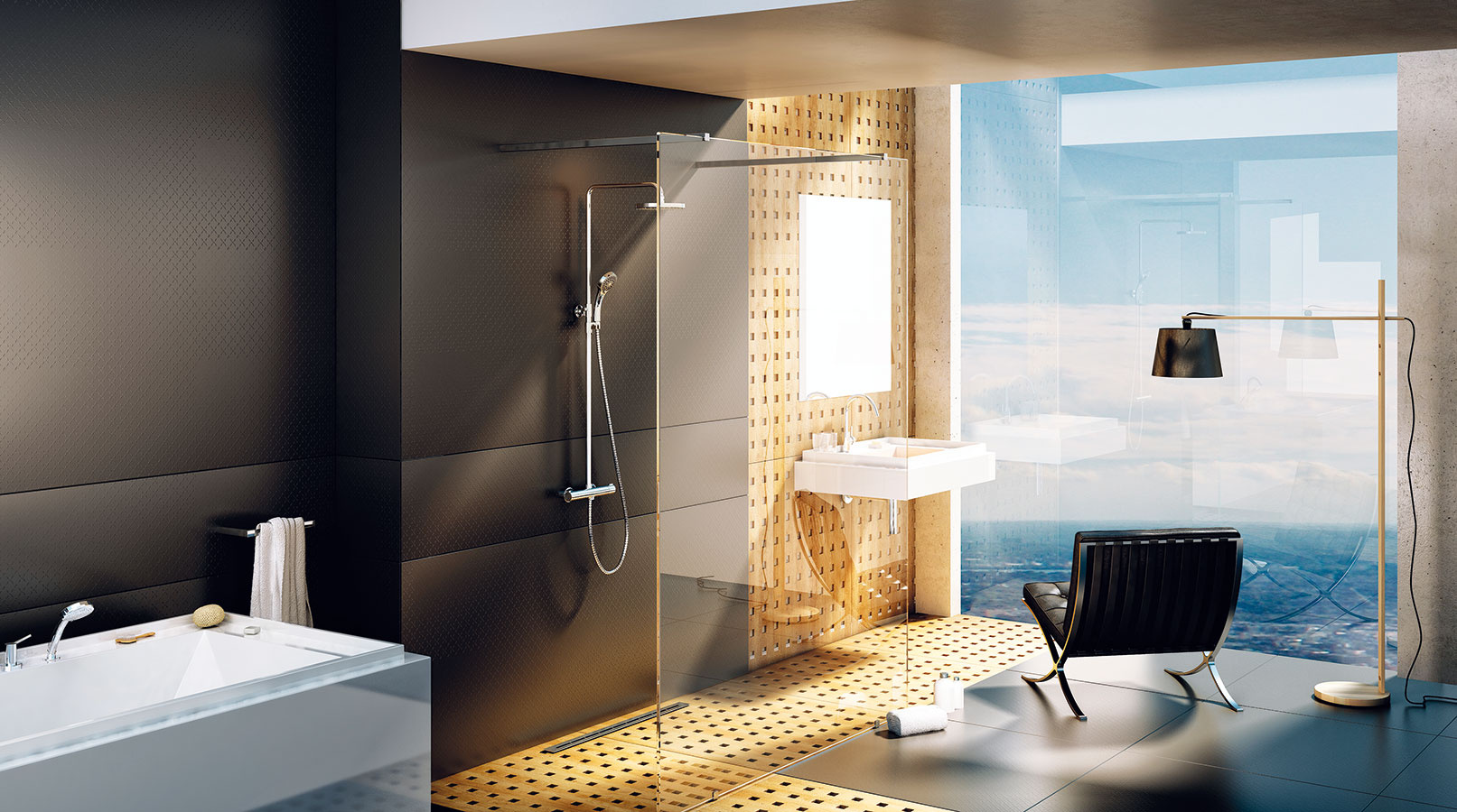 Veľmi elegantným čistým riešením sú sprchovacie kúty Walk-In, ktoré môžete prispôsobiť rozmerom každej kúpeľne. Vponuke značky RAVAK nájdete niekoľko na mieru vyrábaných typov. Sú z8 mm hrubého bezpečnostného skla, ošetreného ochrannou vrstvou proti usadeninám RAVAK AntiCalc, aich stabilitu zaisťujú kovové vzpery. Pri výbere optimálneho riešenia vám pomôže konfigurátor na stránke www.atypy.ravak.sk/#6-Walk-In.