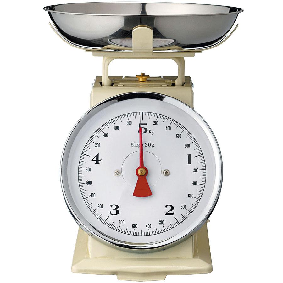 Kuchynská váha Cream od Bloomingville, váži do 5 kg, 48,24 €, www.bellarose.sk
