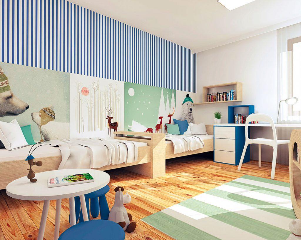 Ako vyriešiť spoločnú detskú izbu pre školáka a malú škôlkarku