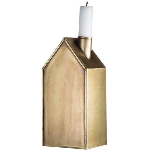 Svietnik House copper od značky Madam Stolz, kov, na sviečku spriemerom 2,5 cm, 9,75 €, www.bellarose.sk