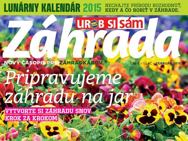 Nový časopis na trhu – Urob si sám Záhrada