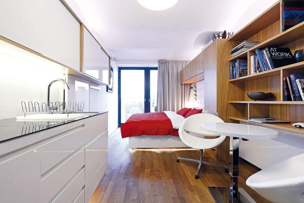 Byt s rozlohou 21 metrov štvorcových poskytuje plnohodnotné bývanie
