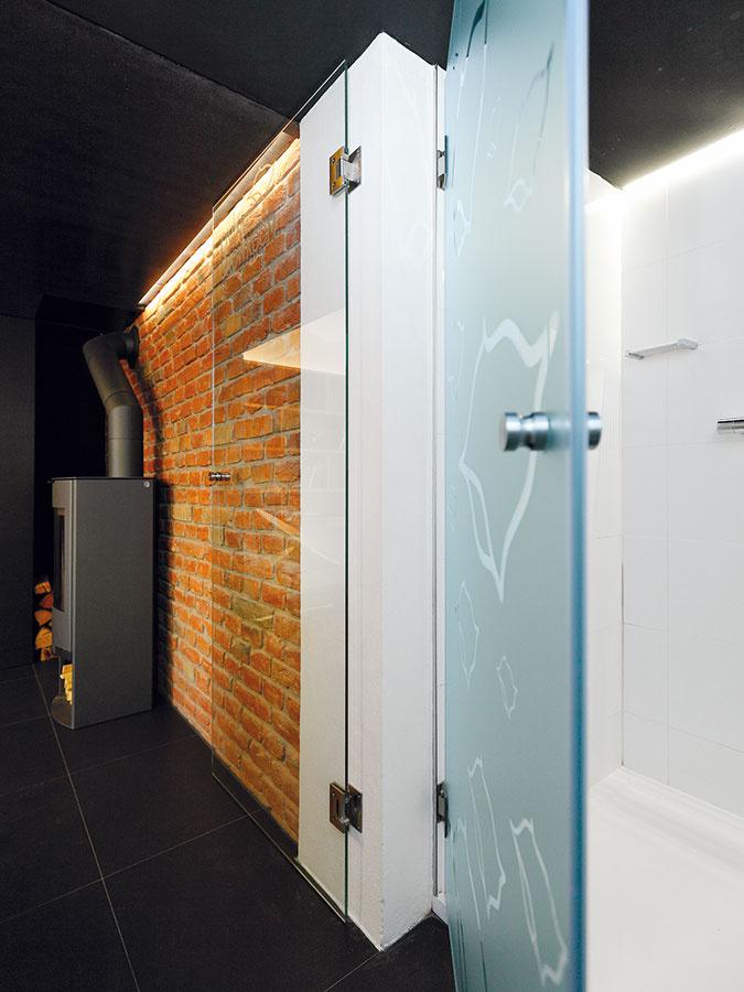 Dotiahnutá miniaturizácia. Hneď za vchodovými dverami je verzia kúpeľne, ktorú možno smelo nazvať absolútne minimalistickou – vstavaný sprchovací kút.