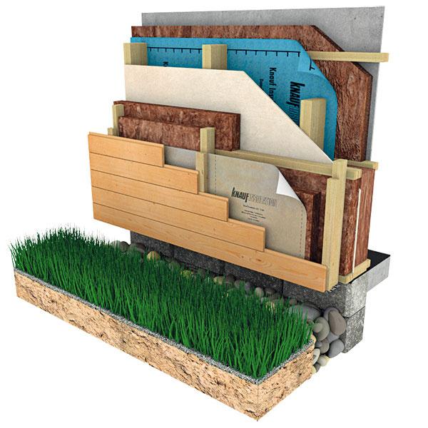 """Difúzne otvorená konštrukcia je taká, cez ktorú môžu vodné pary prestupovať – ak je správne navrhnutá, prejdú cez ňu voľne zinteriéru až do exteriéru. Výhodou je, že dom """"dýcha"""" avkonštrukcii nekondenzuje voda, nevýhodou je vyššia cena."""