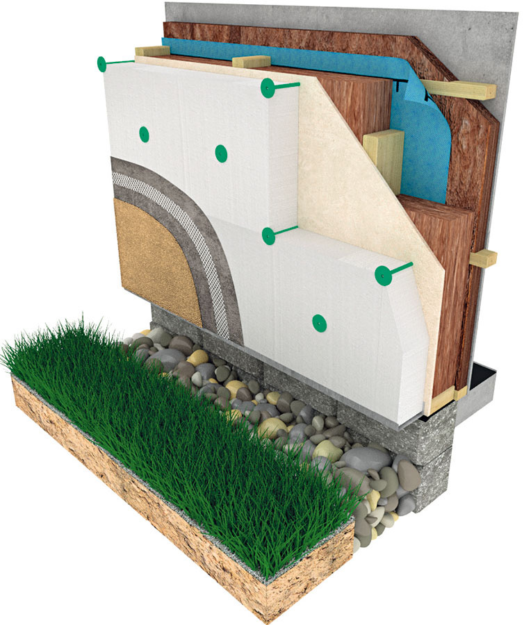 """Difúzne uzavretá konštrukcia je taká, do ktorej by sa žiadne vodné pary nemali dostať, čo zabezpečujú sofistikované parotesné fólie. Dôležitá je precízna realizácia, ktorá býva často problémom, dom tiež nemá výhody """"priedušnej stavby"""". Výhodou je nižšia cena."""