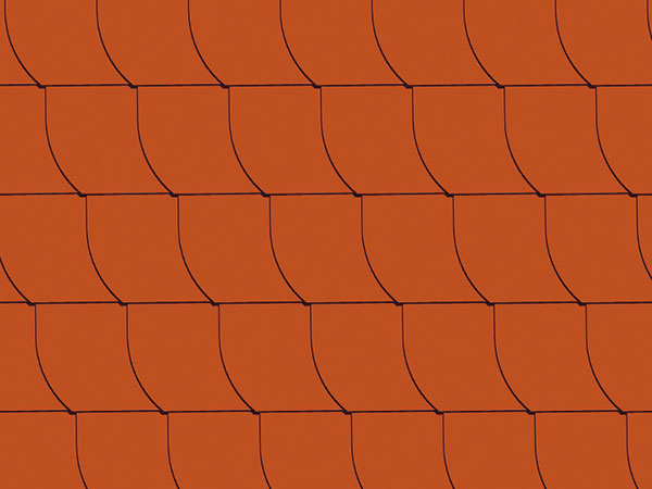 Dokonalé detaily. Maloplošné šablóny Eternit Dacora patria kvšestranným krytinám, ktoré dokážu dodať streche klasický aj moderný vzhľad. Možno ich použiť aj na obloženie štítov, vikierov alebo komínov atak docieliť harmonický jednoliaty vzhľad strechy aostatných detailov. Vprípade nemeckého krytia môžete vyberať zrôznych veľkostí aformátov šablón od 25do 40 cm, čo umožňuje uloženie na rôzne typy arozmery striech.