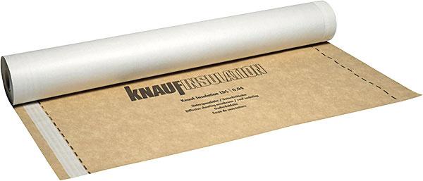 Difúzne tvorená viacvrstvová poistná kontaktná hydroizolačná podstrešná fólia sintegrovanou lepiacou páskou Knauf Insulation LDS 0,04